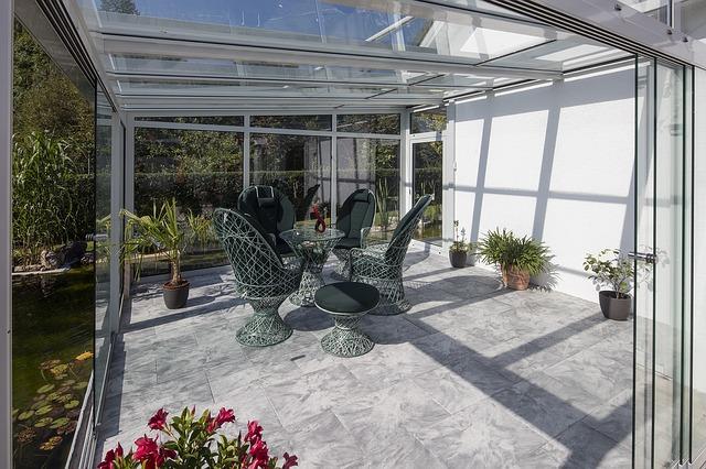 zastřešená zimní zahrada