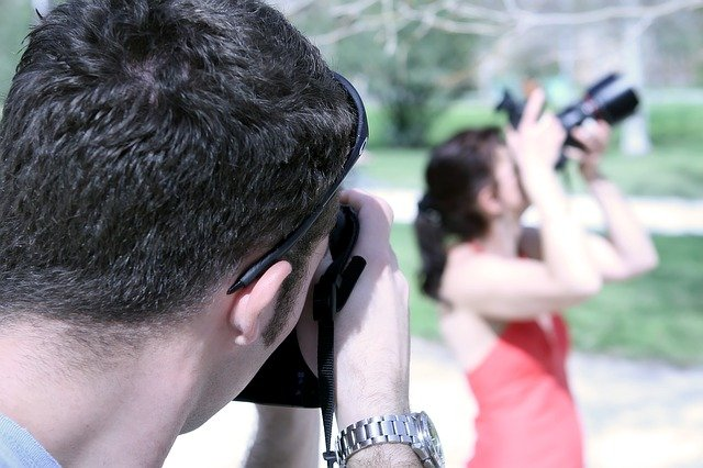focení fotografky