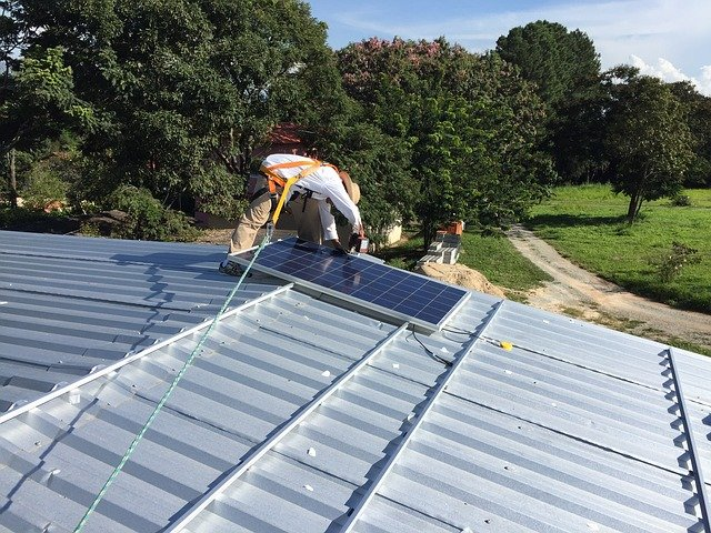 solární panel instalace