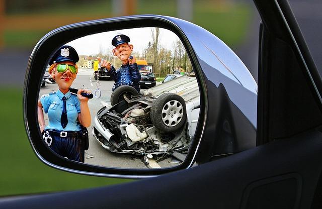 nehoda v zrcátku